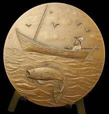 Médaille Saint-Pierre-et-Miquelon Pêche à la morue Cod Fishing 68 mm Medal