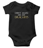 Caca arrive Funny Game of Thrones Stark Garçons Cadeau Bébé Veste Grow Body