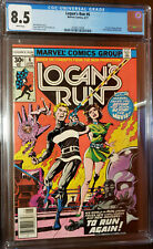 LOGAN'S RUN #6 1ST THANOS SOLO STORY BY MIKE ZECK WHITE PAGES CGC 8.5