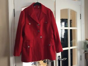 Red Military Style Jacket Size 16