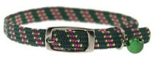 "ultra stretch cat collars 3/8"" stretches 8-14"" green"
