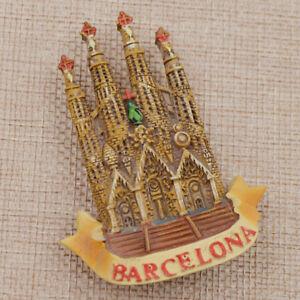 Spain Barcelona Sagrada Família Tourist Travel Souvenir 3D Resin Fridge Magnet