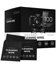 Eveo Lens & Screen Cleaning Wipes - 100 Individual Packets