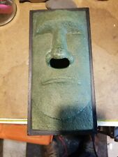 "Rotary Hero Tissue Kleenex Box Cover Holder Tiki Stone Face Head 10"" X 5"" X 3"""