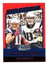 Julian Edelman, Wes Welker 2016 score, Reflections, (red), fútbol card!!!
