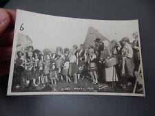Gypsy Party Baildon ShipleyYorkshire 1929 photographic POSTCARD authentic  f