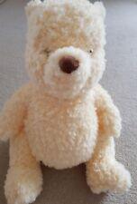 "Disney Exclusive 14"" Deluxe Plush Soft Toy Figure Teddy Bear White Cream Fluffy"