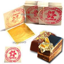 """100pcs 24K EDIBLE PURE GOLD LEAF DECORATE CAKE & FOOD LOVER ARTIST 1.18"""" x 1.18"""""""