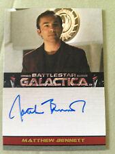 Battlestar Galactica Premiere Autograph Card Matthew Bennett as Aaron Doral