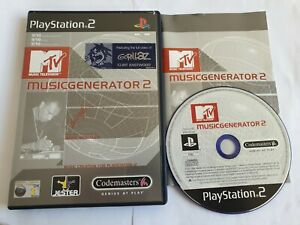MTV Music Generator 2 Sony PlayStation 2 PS2 Game Complete FREE UK POSTAGE
