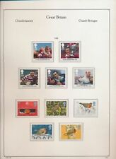 XC39807 Great Britain 1995 rugby cup robin birds fine lot MNH fv 3,25 £