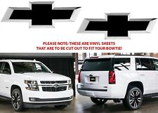 Gloss Black Vinyl Bowtie Decals For 2014-2018 Chevrolet Tahoe New Free Shipping