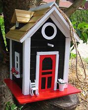 Nisthaus schwarz, Villa kunterbunt, Nistkasten, Vogelhaus aus Holz bunt