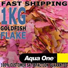 Aqua One Gold Fish Koi Aquarium Fish Tank Quality Flake Fish Food Bulk 1kg