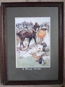 "Lawson Wood Antique Print (c1920) ""A Walk Over"" Equestrian Interest, NOT A REPRO"