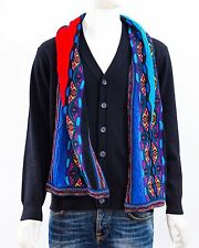 Geccu Australian Merino Wool 3D Multi Colour Knitwear Scarf (Coogi Look)