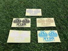S E Bmx decal Sticker Pk Ripper Quadangle frame baby blue black gold white 4130
