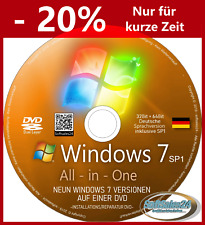 ✅ MICROSOFT WINDOWS 7 SP1 CD DVD ALLE 9-VERSIONEN NEU-INSTALLATION REPARATUR 👍