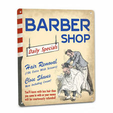 Crazy Barber SIGN Funny Vintage 50s Style Humor Retro Chair Pole Shaves