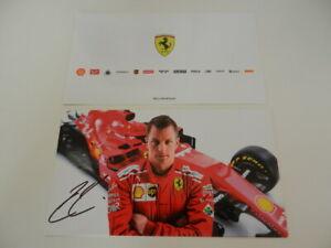 Official Team Driver Card F1 Ferrari KIMI RAIKKONEN autografata autograph
