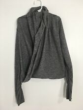Girls Ivivva by Lululemon Wrap Top Long Sleeve Size 6 Gray Thumb Loops