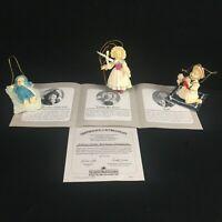 Set of 3 VTG 1994 Ashton Drake Heirloom Miniature Doll Ornaments Yolanda Bello 9