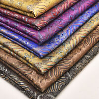 1M Wave Fabric Jacquard Brocade Stage Clothing Silk Satin Quilting Sewing DIY