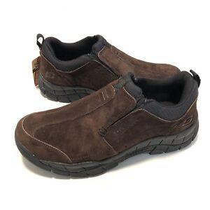 Skechers Rig Mountain Top Mens Chocolate Brown Casual Slip-On Shoe 51292 Sz 10.5