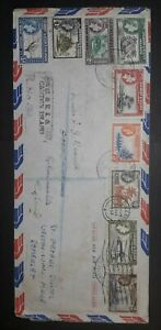 GILBERT AND ELLIS ISLANDS FIRST DAY COVER.  CANTON AND GLOUCESTER MARKS. 1957