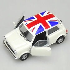 MINI COOPER 1300 Flag Model Car Toys 1:36 Open two doors Alloy Diecast White New