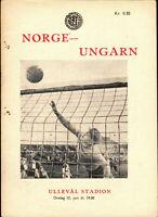 12.06.1957 Norwegen - Ungarn, WM-Qualifikation in Oslo
