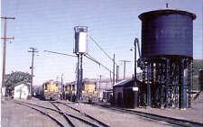 Union Pacific GEEPS diesel locomotives railroad train postcard