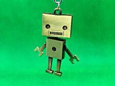 Schlüsselanhänger - Roboter mit Mund golden Anhänger aus Metall