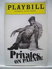 PRIVATES ON PARADE Playbill JIM DALE / SIMON JONES / DONNA MURPHY NYC 1989