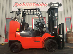 2012 TOYOTA 7FGCU45-BCS 10000LB CUSHION TIRE FORKLIFT WITH SS AND SSFP