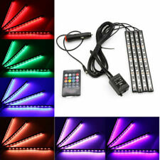 12 LED RGB Car Interior Atmosphere Light Footwell Cigarette Lighter Lamp Decor