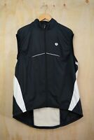 Pearl Izumi - Black & white sleeveless full zip vest cycling jacket, size XXL