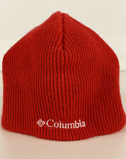 Columbia Youth Whirlibird Cap Red Boy Girl Beanie Winter Knit Hat O/S