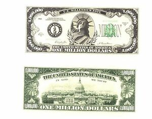 USA AMERICAN ONE MILLION DOLLAR NOVELTY NOTE