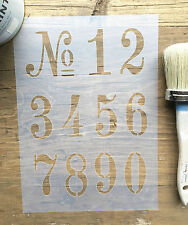 Old Numbers Stencil, French Numbers Stencil, Vintage French Numbers Stencil