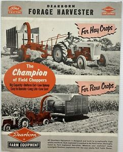 Ford Tractor Dearborn Forage Harvester Brochure 1950's Vintage Collectible VGC