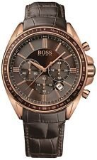 NEW HUGO BOSS 1513093 MENS ROSE GOLD DRIVERS SPORTS WATCH - 2 YEAR WARRANTY