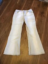 MARKS AND SPENCER BOOTCUT JEANS LIGHT GREY SIZE 12 SHORT  W32 L28