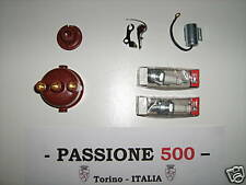 KIT PUNTINE CONDENSATORE CALOTTA ROTORE CANDELE FIAT 500 R - 126