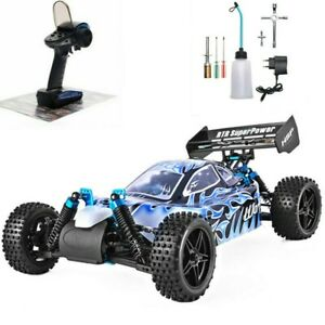 Nitro Gas Power RC Car 1:10 Scale 4wd Two Speed Off Road High Speed Car Warhead