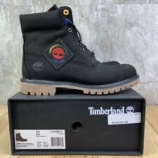 Timberland Premium 6 In Waterproof Boots Size 11 Mens Black Nubuck Patch