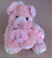 Pig Backpack, soft and cuddly, pink, measures 12 x 8 inches approx. lovely gift