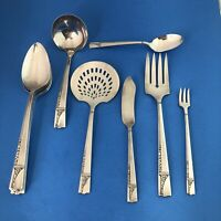 Oneida 1937 Nobility Caprice Silverplate Service Pieces Lot of 10