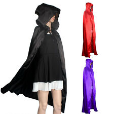 Halloween Costumes Hooded Cloak Coat Wicca Robe Medieval Cape Shawl Party S-XL