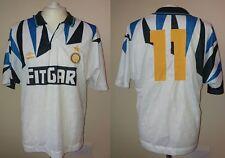 MAGLIA FC INTER 1991-92 UMBRO #11 FONTOLAN MATCHWORN INDOSSATA SHIRT JERSEY